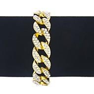 Men's Women's Chain Bracelet Bracelet Rhinestone Classic Vintage Fashion Oversized Hiphop Alloy Geometric Jewelry For Bar Club