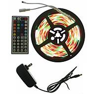 お買い得  -SENCART 5m ライトセット 300 LED 5050 SMD RGB リモートコントロール / カット可能 / 調光可能 100-240 V 1セット / 接続可 / ノンテープ・タイプ / 変色