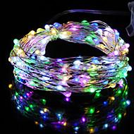 お買い得  -HKV ストリングライト 20 LED 温白色 クールホワイト RGB +ウォーム グリーン ブルー レッド 防水 <5V