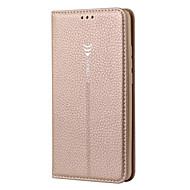お買い得  携帯電話ケース-ケース 用途 Huawei Mate 10 カードホルダー スタンド付き フリップ フルボディーケース 純色 ハード 本革 のために Mate 10 Huawei