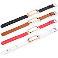 Недорогие Ремешки для часов Xiaomi-Ремешок для часов для Mi Band 2 Xiaomi Спортивный ремешок Натуральная кожа Повязка на запястье