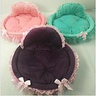 ネコ 犬 ベッド ペット用 マット/パッド ソリッド ウォーム 携帯用 折り畳み式 パープル グリーン ピンク ペット用