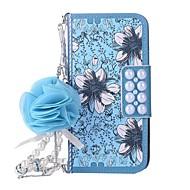 Недорогие Кейсы для iPhone 8 Plus-Кейс для Назначение Apple iPhone X iPhone 8 Бумажник для карт Кошелек со стендом Флип Магнитный С узором Чехол Цветы Твердый Кожа PU для
