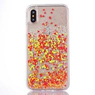 Недорогие Кейсы для iPhone 8 Plus-Назначение iPhone X iPhone 8 iPhone 8 Plus iPhone 7 iPhone 7 Plus iPhone 6 Чехлы панели Движущаяся жидкость Прозрачный Задняя крышка Кейс