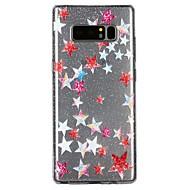 Недорогие Чехлы и кейсы для Galaxy Note 8-Кейс для Назначение SSamsung Galaxy Note 8 Полупрозрачный С узором Рельефный лакировка Кейс на заднюю панель Сияние и блеск Мультипликация