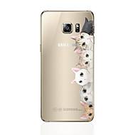 abordables Novedades en Accesorios para Samsung-Funda Para Samsung Galaxy S8 Plus / S8 Diseños Funda Trasera Gato Suave TPU para S8 Plus / S8 / S7 edge