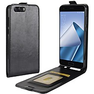 お買い得  携帯電話ケース-ケース 用途 Asus Zenfone 4 ZE554KL Zenfone 4 MAX ZC554KL カードホルダー フリップ フルボディーケース 純色 ハード PUレザー のために Asus Zenfone 4 ZE554KL Asus Zenfone 4 Selfie