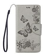 Χαμηλού Κόστους Θήκες κινητών τηλεφώνων-tok Για Motorola G5 Plus G4 Plus Θήκη καρτών Πορτοφόλι με βάση στήριξης Ανοιγόμενη Ανάγλυφη Πλήρης Θήκη Πεταλούδα Σκληρή PU δέρμα για