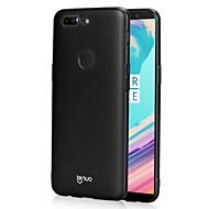 お買い得  携帯電話ケース-ケース 用途 OnePlus OnePlus 5T 5 超薄型 つや消し バックカバー 純色 ハード PC のために One Plus 5 OnePlus 5T