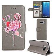 Χαμηλού Κόστους Νέες παραλαβές αξεσουάρ Samsung-tok Για Samsung Galaxy S8 Plus S8 Θήκη καρτών Πορτοφόλι με βάση στήριξης Ανοιγόμενη Πλήρης Θήκη Φοινικόπτερος Σκληρή PU δέρμα για S8 Plus