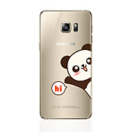 お買い得  新着 Samsung 用アクセサリー-ケース 用途 Samsung Galaxy S8 Plus S8 パターン バックカバー パンダ ソフト TPU のために S8 Plus S8 S7 edge S7 S6 edge plus S6 edge S6