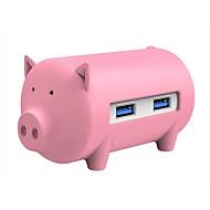 お買い得  USB ハブ & スイッチ-ORICO 3 USBハブ USB 3.0 USB 3.0 ハイスピード カードリーダー付き(S) 入力保護 オーバーレンジ保護 OTG データハブ