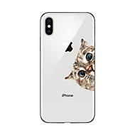 Hülle Für Apple iPhone X iPhone 8 Plus Transparent Muster Rückseite Katze Weich TPU für iPhone X iPhone 8 Plus iPhone 8 iPhone 7 Plus