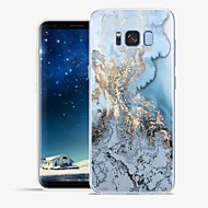 Недорогие Чехлы и кейсы для Galaxy S8-Кейс для Назначение SSamsung Galaxy S8 Plus S8 С узором Кейс на заднюю панель Полосы / волосы Мрамор Мягкий ТПУ для S8 Plus S8 S7 edge S7