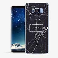 Недорогие Чехлы и кейсы для Galaxy S8-Кейс для Назначение Apple / SSamsung Galaxy S8 Plus / S8 С узором Кейс на заднюю панель Слова / выражения / Мрамор Мягкий ТПУ для S8 Plus / S8 / S7 edge