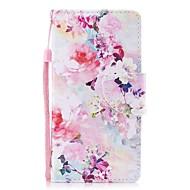 Недорогие Чехлы и кейсы для Galaxy Note-Кейс для Назначение SSamsung Galaxy Note 8 Бумажник для карт Кошелек со стендом Флип Магнитный С узором Чехол Цветы Твердый Кожа PU для
