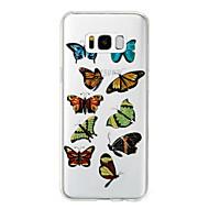 tanie Samsung: Nowości-Kılıf Na Samsung Galaxy S8 Plus S8 IMD Wzór Czarne etui Motyl Połysk Miękkie TPU na S8 Plus S8 S7 edge S7