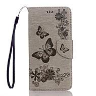 preiswerte Handyhüllen-Hülle Für Google Pixel XL Pixel Kreditkartenfächer Geldbeutel mit Halterung Flipbare Hülle Geprägt Ganzkörper-Gehäuse Schmetterling Hart