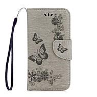 Недорогие Чехлы и кейсы для Galaxy A7(2017)-Кейс для Назначение SSamsung Galaxy A5(2017) A3(2017) Бумажник для карт Кошелек со стендом Флип Рельефный Чехол Бабочка Твердый Кожа PU