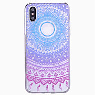 abordables Fundas para iPhone 8-Funda Para Apple iPhone X iPhone 8 iPhone 6 iPhone 6 Plus iPhone 7 Plus iPhone 7 Diseños Funda Trasera Mandala Dura ordenador personal