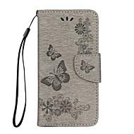 Недорогие Кейсы для iPhone 8-Кейс для Назначение Apple iPhone X iPhone 8 Бумажник для карт Кошелек со стендом Флип Чехол Бабочка Твердый Кожа PU для iPhone X iPhone 8