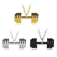 billige -Herre Dame geometrisk Halskædevedhæng Sølvbelagt Simple Sej Guld Sort Sølv Halskæder Smykker Et Panel Til Daglig Formel