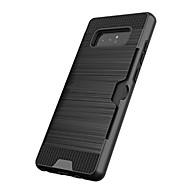 Недорогие Чехлы и кейсы для Galaxy Note-Кейс для Назначение SSamsung Galaxy Note 8 Note 5 Бумажник для карт Защита от удара Кейс на заднюю панель Сплошной цвет Твердый пластик