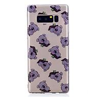 Недорогие Чехлы и кейсы для Galaxy Note 8-Кейс для Назначение SSamsung Galaxy Note 8 С узором Кейс на заднюю панель Животное Мягкий ТПУ для Note 8