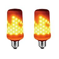 お買い得  LED コーン型電球-2pcs 5W 350-450lm E27 LEDコーン型電球 99 LEDビーズ SMD 2835 調光可能 炎効果 装飾用 温白色 85-265V