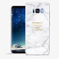 Недорогие Чехлы и кейсы для Galaxy S8-Кейс для Назначение SSamsung Galaxy S8 Plus / S8 С узором Чехол Слова / выражения / Мрамор Мягкий ТПУ для S8 Plus / S8 / S7 edge