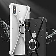 Недорогие Кейсы для iPhone 8 Plus-Кейс для Назначение Apple iPhone X iPhone 8 Защита от удара со стендом Кольца-держатели Бампер Сплошной цвет Твердый Металл для iPhone X