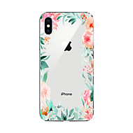abordables Accesorios para Apple-Funda Para Apple iPhone X / iPhone 8 Plus / iPhone 7 Diseños Funda Trasera Flor Suave TPU para iPhone X / iPhone 8 Plus / iPhone 8
