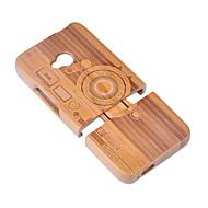 olcso Mobiltelefon tokok-Case Kompatibilitás HTC Ütésálló Fekete tok Mértani formák Kemény Bambusz mert HTC One M7