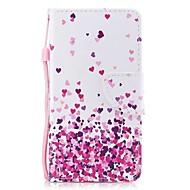Недорогие Кейсы для iPhone 8-Кейс для Назначение Apple iPhone X iPhone 8 Plus Бумажник для карт Кошелек со стендом Флип Магнитный С узором Чехол С сердцем Твердый