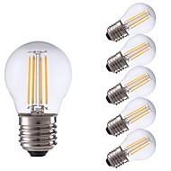 お買い得  -GMY® 6本 3.5W 350lm E27 フィラメントタイプLED電球 P45 4 LEDビーズ COB LEDライト 温白色 220-240V