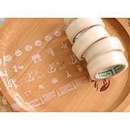 abordables Corte y medición-Tejido Llano Reglas y cintas métricas 1pc Transparente