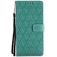 Недорогие Чехлы и кейсы для Galaxy Note-Кейс для Назначение SSamsung Galaxy Note 8 Бумажник для карт Кошелек со стендом Флип С узором Чехол Сплошной цвет Кружева Печать Твердый
