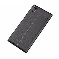 お買い得  携帯電話ケース-ケース 用途 Sony Xperia XA1 Ultra つや消し エンボス加工 バックカバー 純色 ソフト TPU のために Xperia XA1 Plus Sony