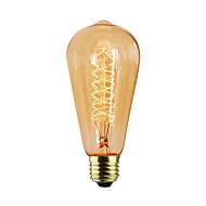 halpa Hehkulamppu-1kpl 60W E27 E26/E27 E26 ST64 K Himmennetty Vintage Edison-hehkulamppu AC 220-240V V