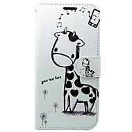 Недорогие Чехлы и кейсы для Galaxy S8-Кейс для Назначение Apple S8 S7 Кошелек Бумажник для карт со стендом Флип Чехол Животное Мультипликация Твердый Кожа PU для S8 S7