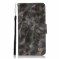 preiswerte Handyhüllen-Hülle Für LG LG K10 StyLo 3 Q6 Plus Kreditkartenfächer Geldbeutel mit Halterung Flipbare Hülle Ganzkörper-Gehäuse Volltonfarbe Hart