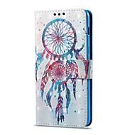 Недорогие Чехлы и кейсы для Galaxy А-Кейс для Назначение SSamsung Galaxy A8 2018 A8 Plus 2018 Бумажник для карт со стендом Флип С узором Чехол Ловец снов Твердый Кожа PU для