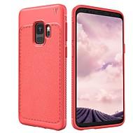 Недорогие Чехлы и кейсы для Galaxy S9-Кейс для Назначение SSamsung Galaxy S9 S9 Plus Защита от удара Матовое Кейс на заднюю панель Сплошной цвет Мягкий ТПУ для S9 Plus S9