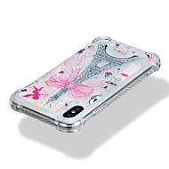 Недорогие Кейсы для iPhone 8-Кейс для Назначение Apple iPhone X iPhone 8 Защита от удара Движущаяся жидкость С узором Кейс на заднюю панель Сияние и блеск Эйфелева