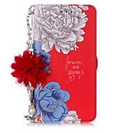 Недорогие Чехлы и кейсы для Galaxy J5(2017)-Кейс для Назначение SSamsung Galaxy J7 (2017) J5 (2017) Бумажник для карт со стендом Флип С узором Своими руками Чехол Цветы Твердый Кожа