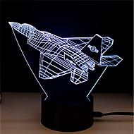 billige Originale LED-lamper-1set LED Night Light Tryk 7-farve USB-drevet Stress og angst relief Dekorativt lys Med USB-port Farveskiftende
