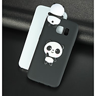 Недорогие Чехлы и кейсы для Galaxy S8-Кейс для Назначение SSamsung Galaxy S8 Plus S8 С узором Своими руками Кейс на заднюю панель Панда 3D в мультяшном стиле Мягкий ТПУ для S8