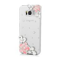 Недорогие Чехлы и кейсы для Galaxy S7-Кейс для Назначение SSamsung Galaxy S8 Plus S8 Стразы С узором Кейс на заднюю панель Цветы Твердый Акрил для S8 Plus S8 S7 edge S7