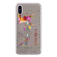 Недорогие Кейсы для iPhone 8 Plus-Кейс для Назначение Apple iPhone X iPhone 8 IMD Прозрачный С узором Кейс на заднюю панель Животное Мягкий ТПУ для iPhone X iPhone 8 Pluss