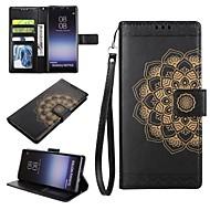 Недорогие Чехлы и кейсы для Galaxy Note-Кейс для Назначение SSamsung Galaxy Note 8 Бумажник для карт Кошелек со стендом Флип Рельефный Чехол Мандала Твердый Кожа PU для Note 8